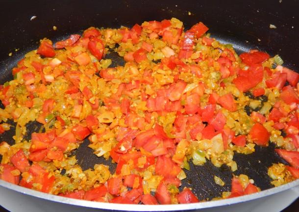 Baingan Aloo Tomatoes