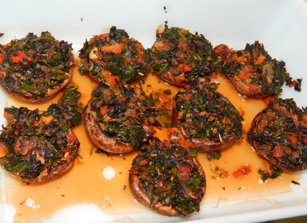 baked-stuffed-mushrooms-casserole-dish