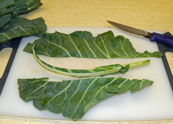 destemming-collards