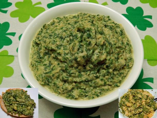 Glorious Green Goo Dip Spread Pasta Sauce