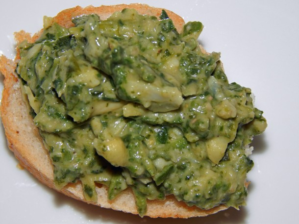 Glorious Green Goo Vegan Spinach Artichoke Spread