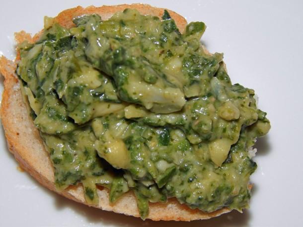 Glorious Green Goo Vegan Spinach Artichoke Spread
