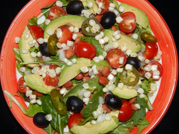 Cinco de Mayo Salad Closer Up