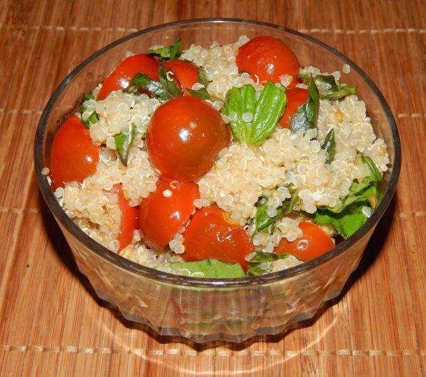 Cherry Tomato Basil Quinoa