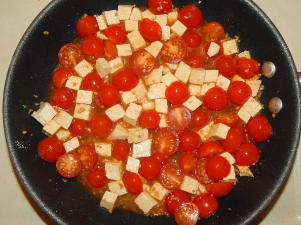 Cherry Tomatoes with Tofu