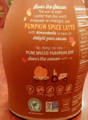Califia Pumpkin Spice Latte Bottle