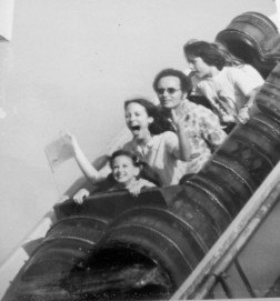Powder Keg Flume! I'm the one in front!