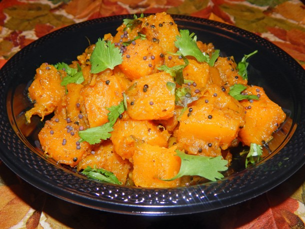 Sweet and Spicy Curried Butternut Squash
