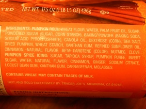 Trader Joe's Pumpkin Rolls Ingredients