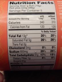 Trader Joes Pumpkin Rolls Nutritional Info 1
