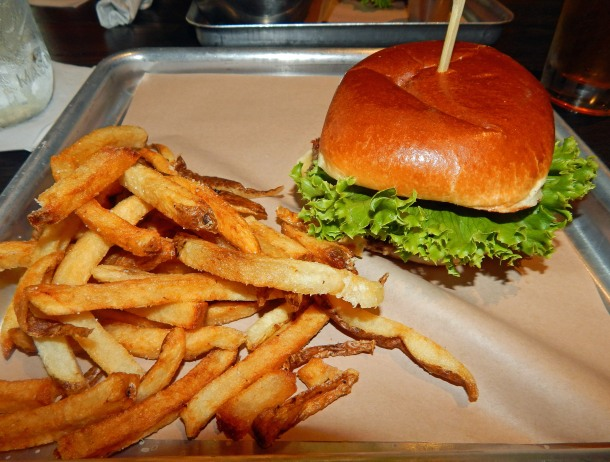 Impossible Burger and Fries