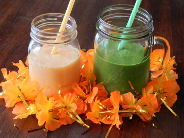Cantelope Peach Ginger Smoothies