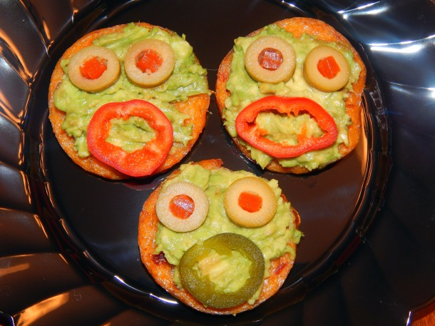 Polenta Monster Faces