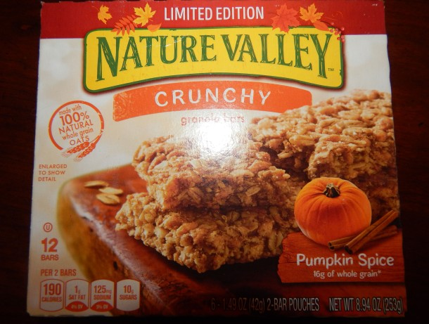 Nature Valley Pumpkin Spice Granola Bar Box