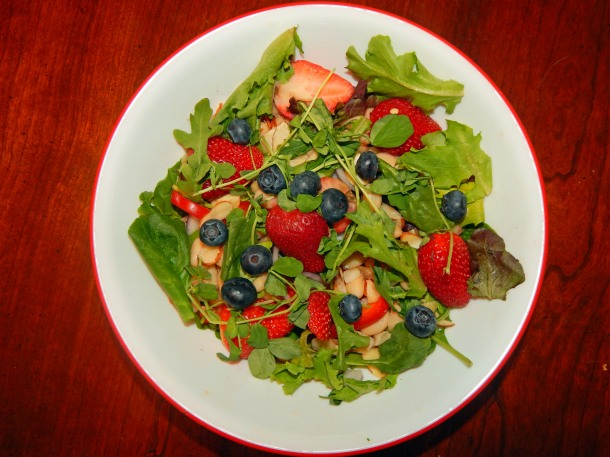 Strawberry Dinner Salad Add Blueberries